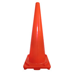 900mm/4.3kg Air Lock Solution PVC Traffic Cone Product Photo